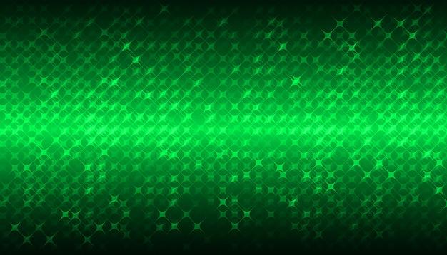 Écran de cinéma à led verte pour la présentation de films. fond de technologie abstraite légère Vecteur Premium