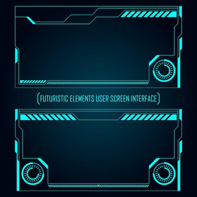 Écran de moniteur futuriste Vecteur Premium