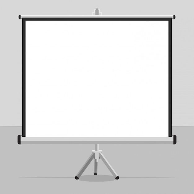 Un écran projeté avec un trépied pour vos présentations Vecteur Premium