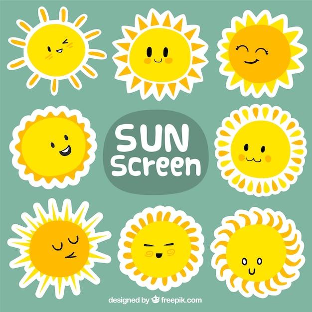 Écran solaire Vecteur Premium