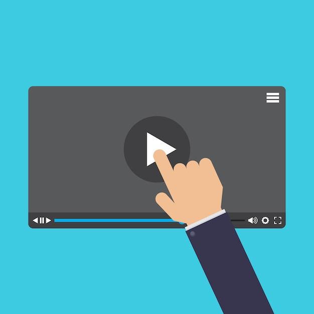 Écran tactile, apprentissage en ligne Vecteur Premium