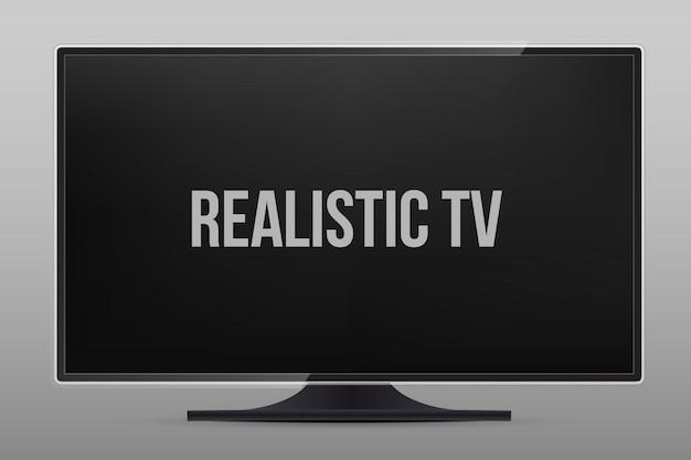 Écran de télévision, écran lcd, moniteur. Vecteur Premium