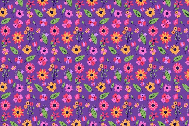Écran de veille magnifique ditsy floral Vecteur gratuit