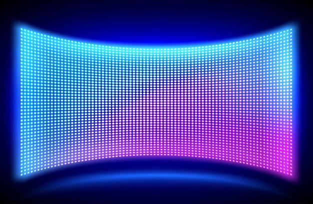 Écran Vidéo Mural à Led Avec Lumières à Points Lumineux Vecteur gratuit