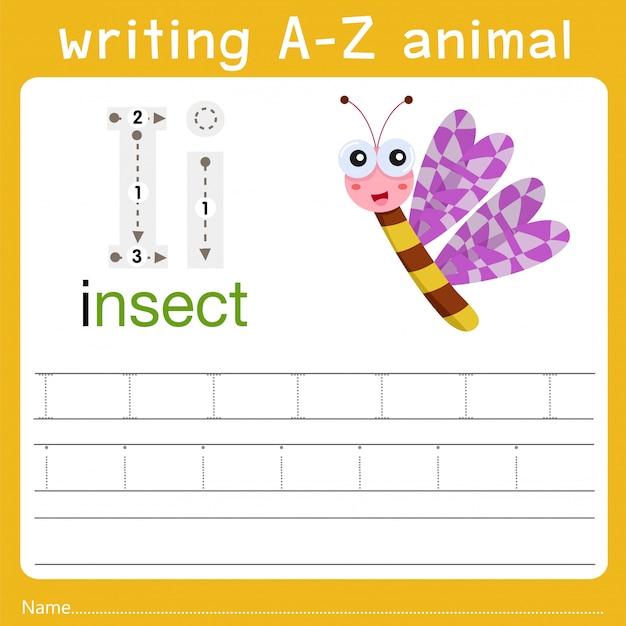 Écrire un animal i Vecteur Premium