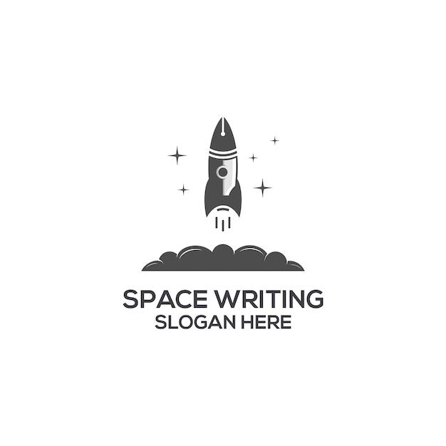 Ecriture spatiale Vecteur Premium