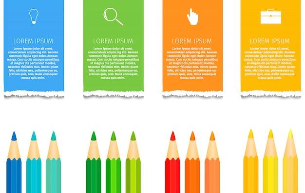 Education au crayon infographie Vecteur Premium
