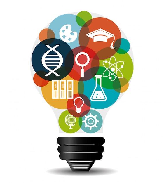 Education électronique ou e-learning Vecteur Premium