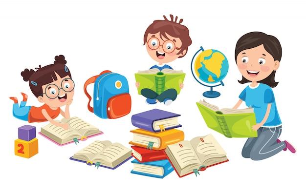 Education des enfants Vecteur Premium
