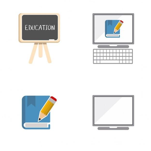 Education Icons Vecteur gratuit