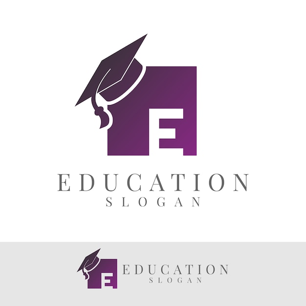 Éducation Initiale Lettre E Logo Design Vecteur Premium