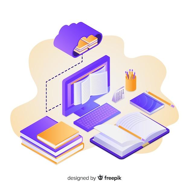 Éducation en ligne Vecteur gratuit