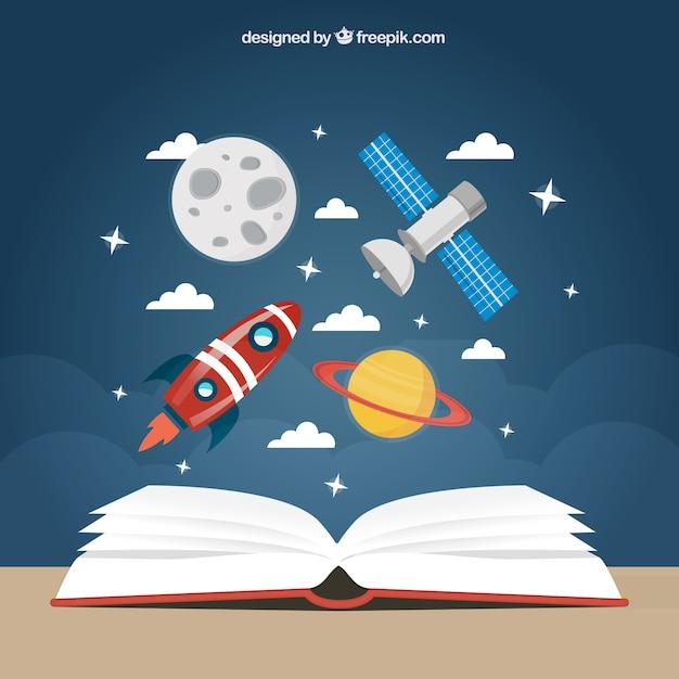 L'éducation Space Background Vecteur Premium