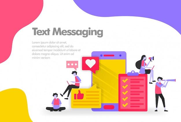 Effectuer une tâche avec une bannière de messagerie texte Vecteur Premium