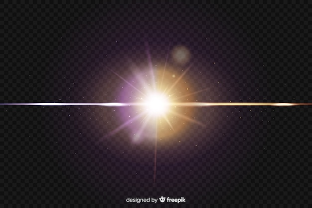 Effet de collision réaliste à deux lumières Vecteur gratuit