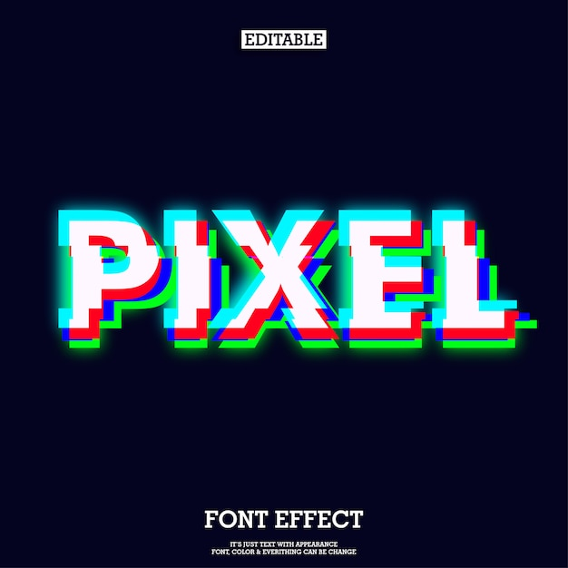 Effet d'écran vert rouge bleu pixel Vecteur Premium