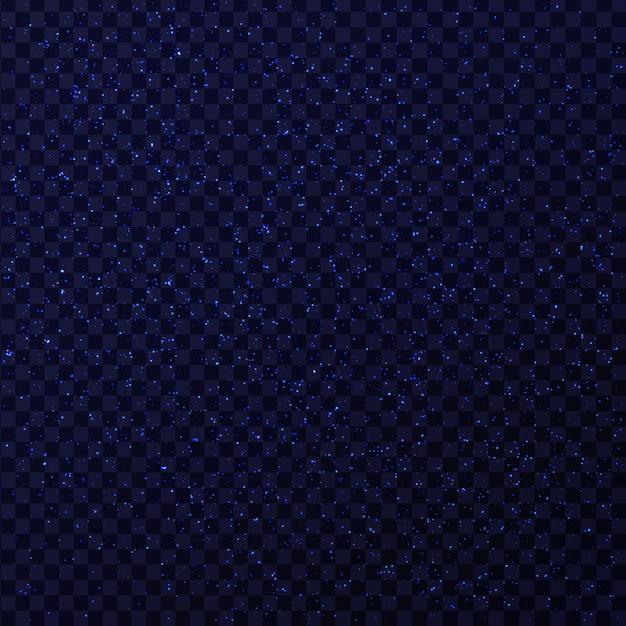 Effet D'étoiles Scintillantes Bleues Réalistes Sur Le Fond Transparent. Lumière Rougeoyante Réaliste Pour La Décoration. Vecteur Premium