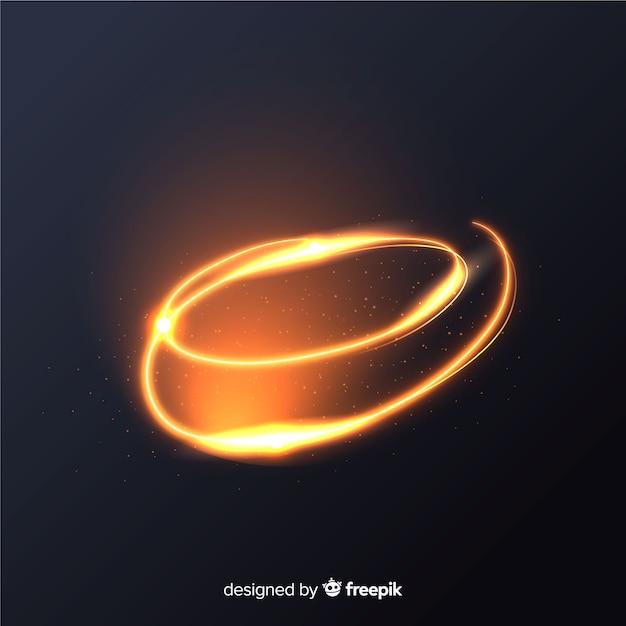 Effet de lignes spirales brillantes dorées Vecteur gratuit