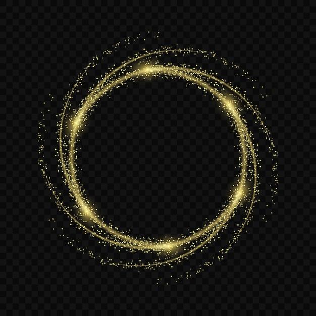 Effet de lueur de lumière magique étoiles éclate avec des étincelles isolé sur fond transparent. trace de lumière Vecteur Premium