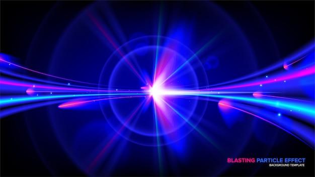 Effet de lumière abstraite en vecteur Vecteur Premium