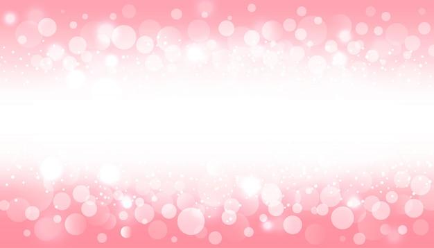 Effet De Lumière Flou Bokeh Sur Fond Rose Vecteur gratuit