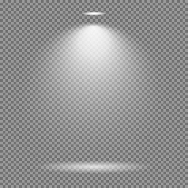 Effet de lumière sur fond transparent. lumières lumineuses collection de vecteur Vecteur Premium