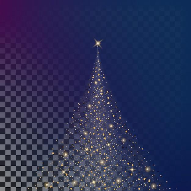 Effet de lumière glow étoiles éclate d'étincelles. Vecteur Premium