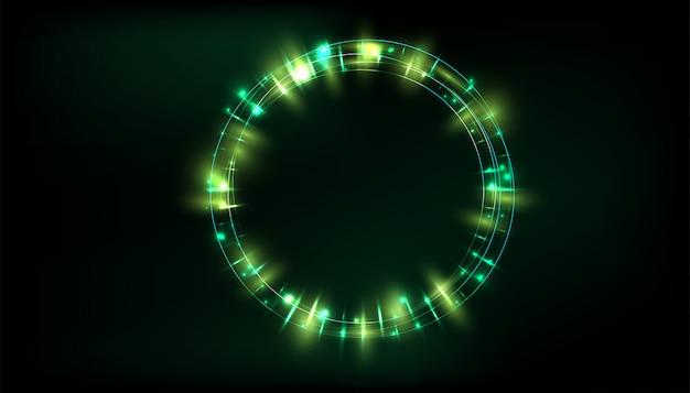 Effet de lumière luminescent transparent Vecteur Premium
