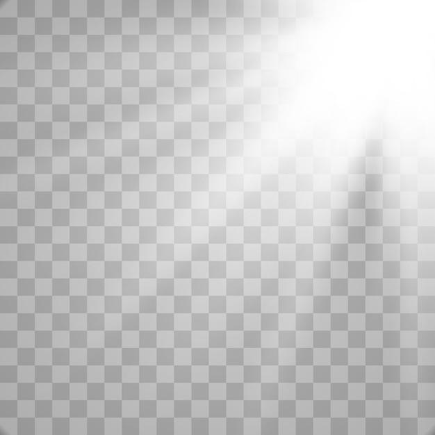 Effet De Lumière Parasite Spécial Pour La Lumière Du Soleil. Vecteur Premium