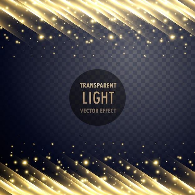 Effet de lumière transparent avec effet étincelant Vecteur gratuit
