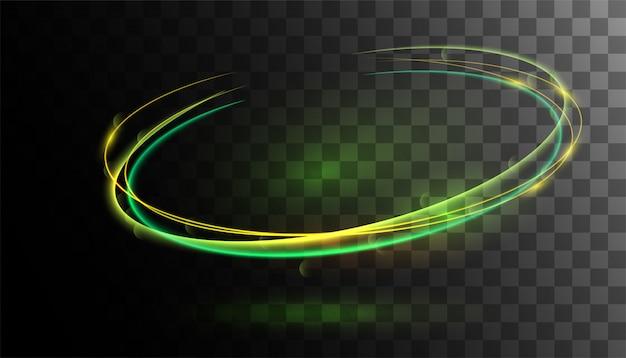 Effet de lumière verte glow transparent Vecteur Premium