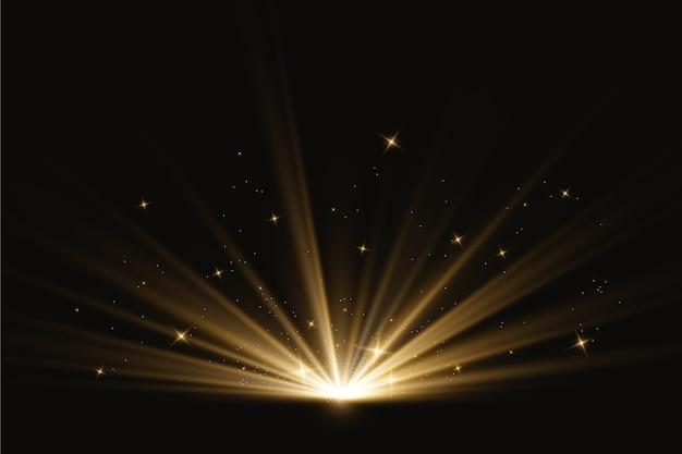 Effet lumineux abstrait lever du soleil Vecteur gratuit