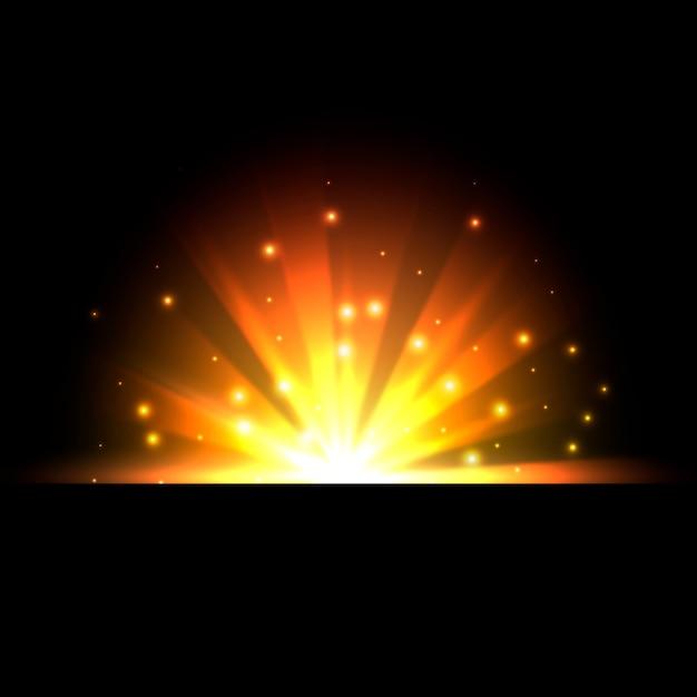 Effet Lumineux Du Lever Du Soleil Vecteur gratuit
