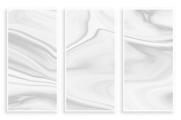 Effet de marbre liquide abstrait bannière blanche vide Vecteur gratuit