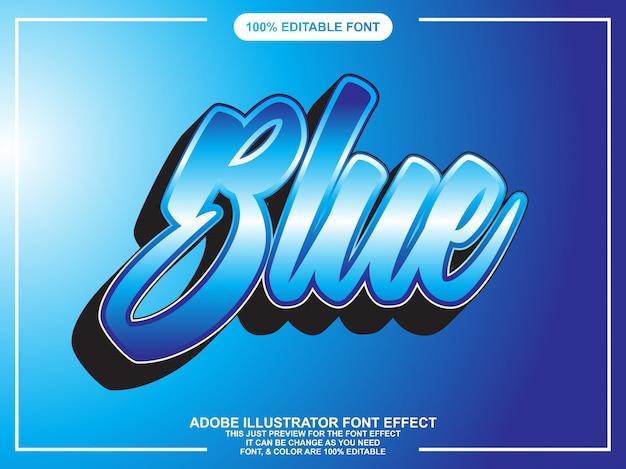 Effet de police typographique éditable script 3d moderne Vecteur Premium