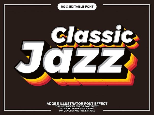 Effet de police typographique vintage classique éditable Vecteur Premium