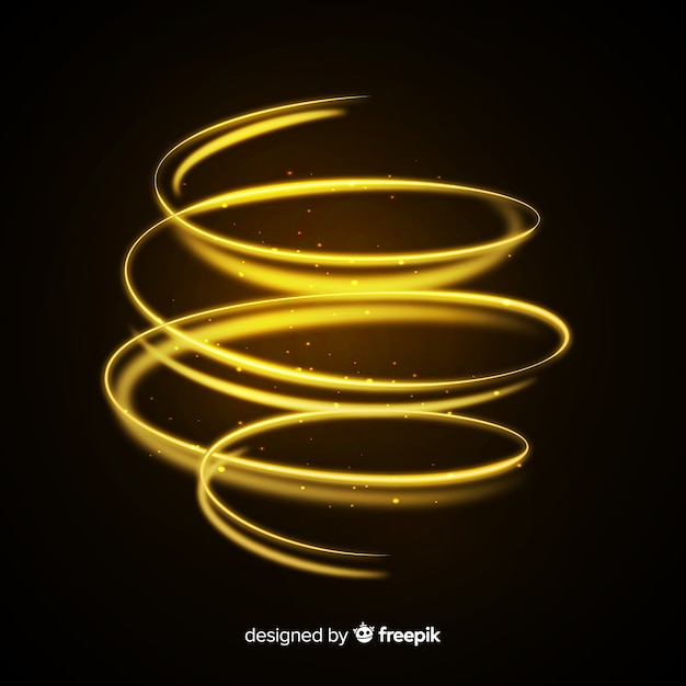 Effet Spirale Doré Brillant Décoratif Vecteur gratuit