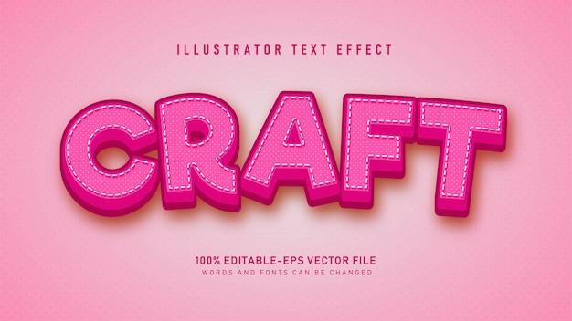 Effet De Style De Texte Craft Rose Vecteur Premium
