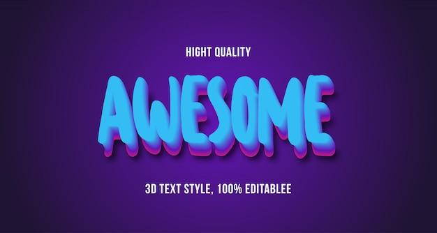 Effet De Texte 3d Impressionnant, Texte Modifiable Vecteur Premium