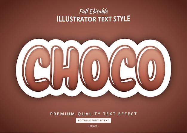 Effet De Texte Au Chocolat Vecteur Premium