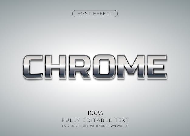 Effet De Texte Chrome. Style De Police Modifiable Vecteur Premium