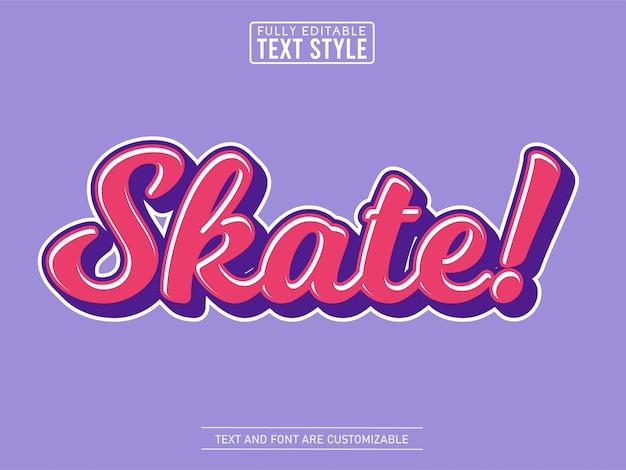 Effet De Texte Cool Skate Fluide Tendance Vecteur Premium