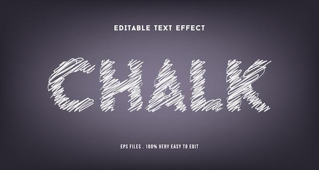 Effet De Texte Craie Premium, Texte Modifiable Vecteur Premium