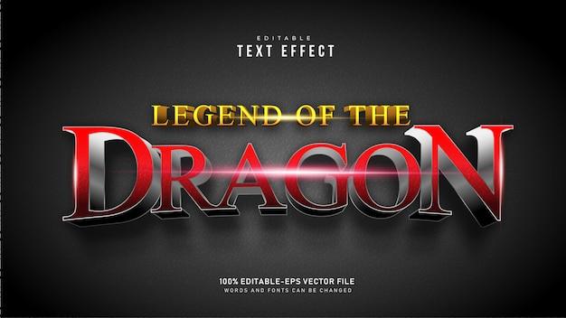 Effet De Texte Dragon Rouge Vecteur gratuit