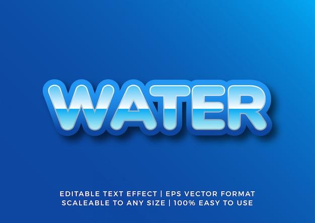 Effet De Texte De L'eau De L'océan Bleu Vecteur Premium