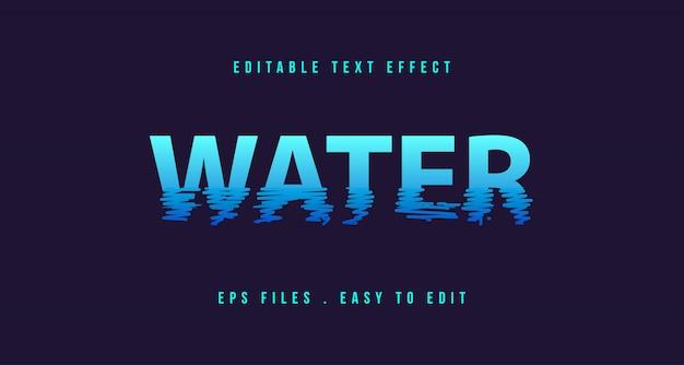 Effet De Texte Sur L'eau, Texte Modifiable Vecteur Premium