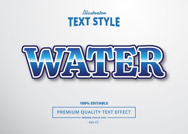 Effet De Texte Sur L'eau Vecteur Premium