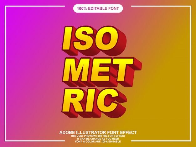 Effet de texte éditable isométrique moderne pour illustrateur Vecteur Premium