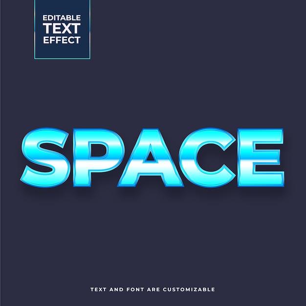 Effet De Texte D'espace Créatif Vecteur gratuit