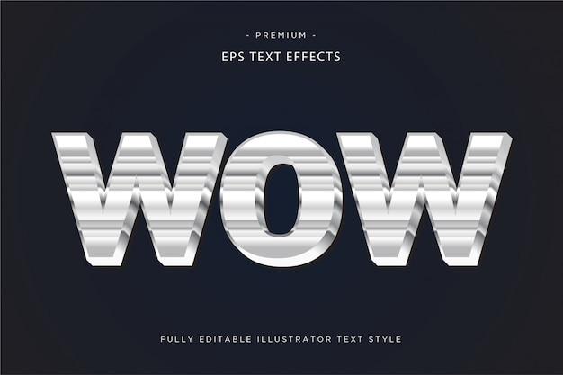 Effet De Texte Fluide Style De Texte Fluide Vecteur Premium